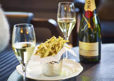 Moet Flutes and Frites